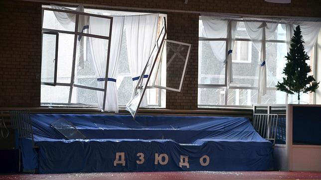 Las ventanas estallaron tras la explosión