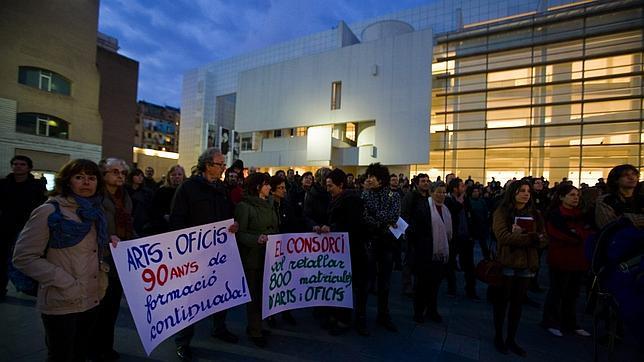 El sector cultural ya se movilizó el año pasado para protestar por los recortes de la Generalitat