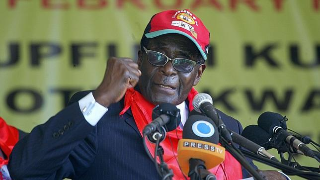 El dictador de Zimbabue. Robert Mugabe
