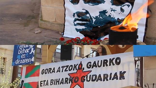 Homenaje de Sortu a «Thierry» e Orduña