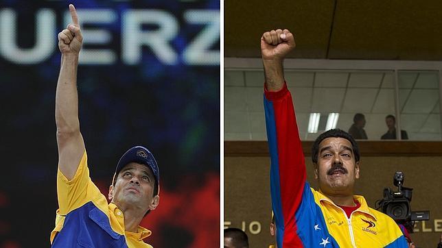 Los símbolos que se disputan Maduro y Capriles en la campaña electoral venezolana
