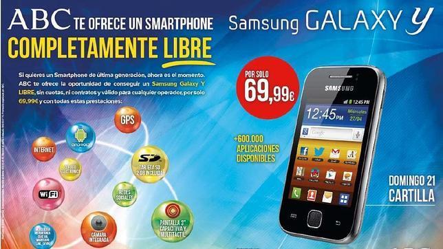 ABC te ofrece este domingo un «smartphone» Samsung Galaxy Y libre