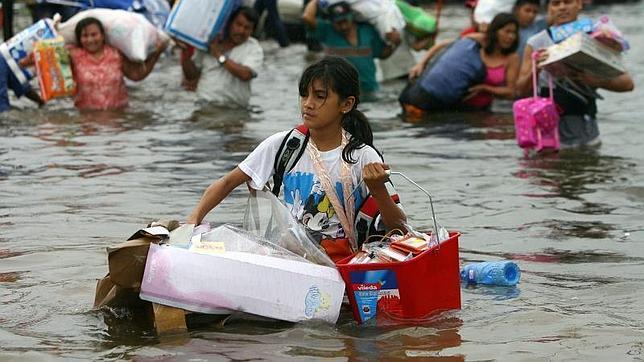 Imagen de archivo del huracán que arrasó Villahermosa, en México, en 2007