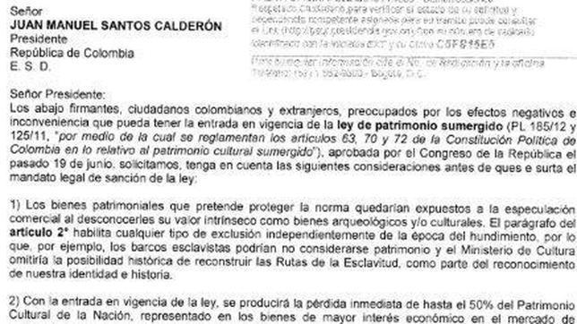 La comunidad científica pide al presidente de Colombia que pare la ley de Patrimonio