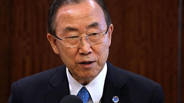 El secretario general de la ONU, Ban K i-moon