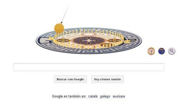 Léon Foucault luce su péndulo en Google