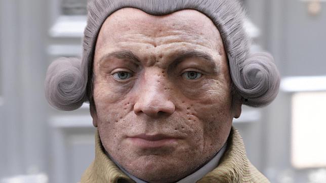 El rostro real de Robespierre, con ojeras y marcas de viruela
