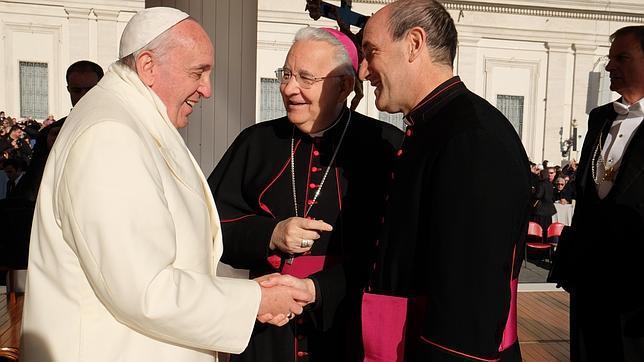 Fernández, con el Papa Francisco