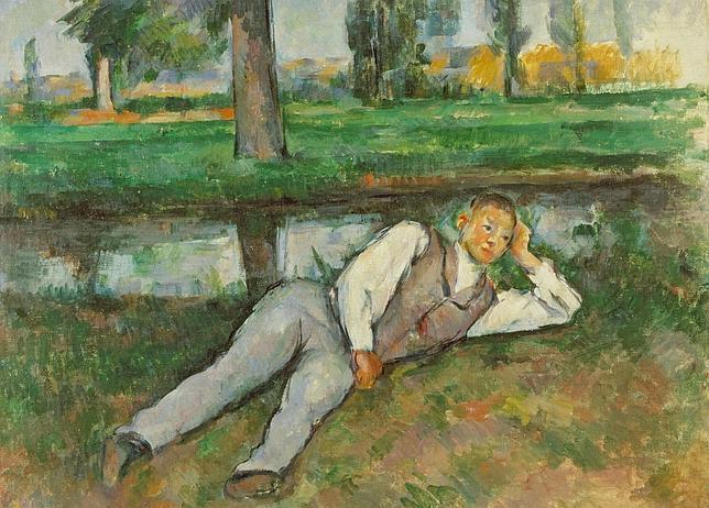 «Joven descansando», de Paul Cézanne