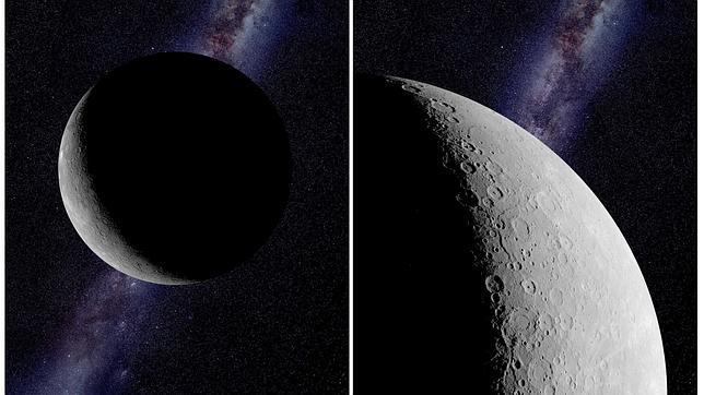 Combo de fotografías facilitadas por la NASA del planeta Mercurio