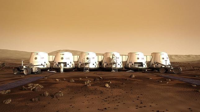 Recreación de las casas en las que vivirán los colonos en Marte, según Mars One