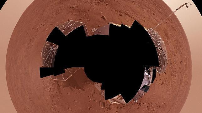 La sonda Phoenix en Marte, en una imagen de 2008