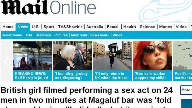 """«A la chica británica filmada realizando actos sexuales a 24 hombres le prometieron un """"Holiday"""" [vacaciones], que terminó siendo un cóctel de 4€»"""