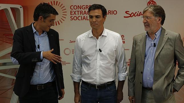 Los tres candidatos a liderar el PSOE polemizan por ser más de izquierdas