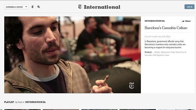 Barcelona, un imán para el turismo de marihuana, según «The New York Times»
