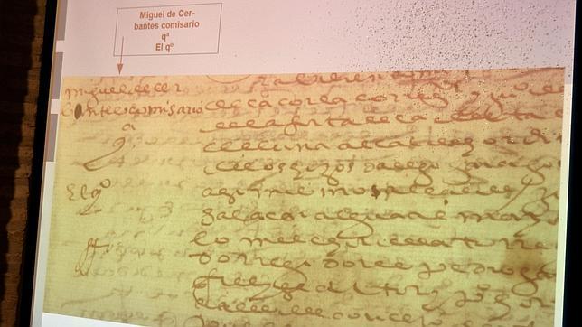 El manuscrito firmado por Miguel de Cervantes