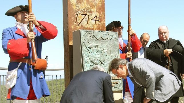 El presidente de la Generalitat, Artur Mas, durante los actos de conmemoración de la batalla de Talamanca