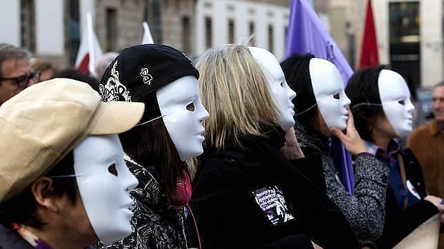 Mujeres contra la violencia de genero en Vigo