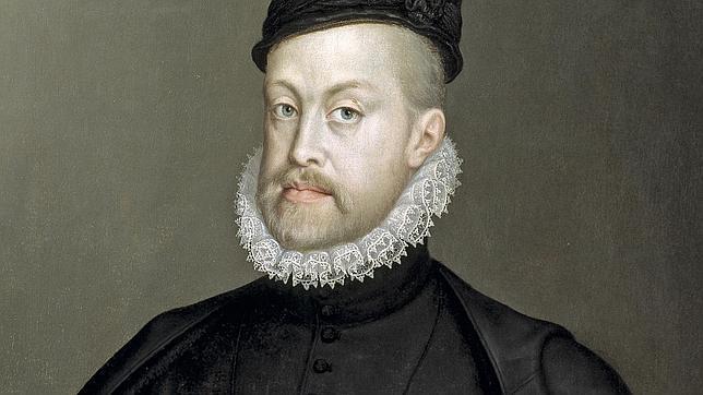 Retrato de Felipe II, contemporaneo y enemigo de Guillermo de Orange
