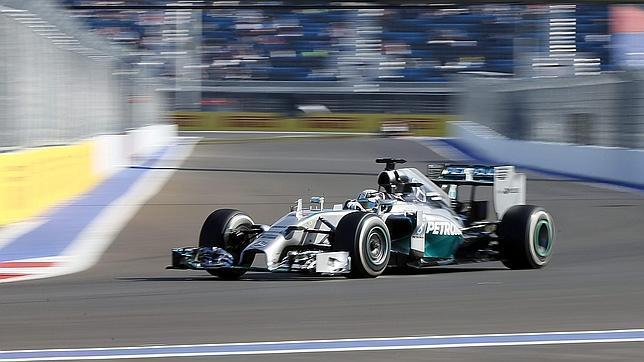 Lewis Hamilton, en el circuito de Sochi