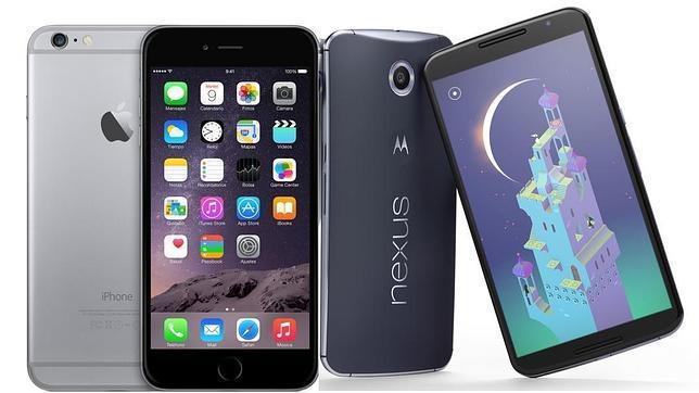 El iPhone 6 Plus junto al nuevo Nexus 6