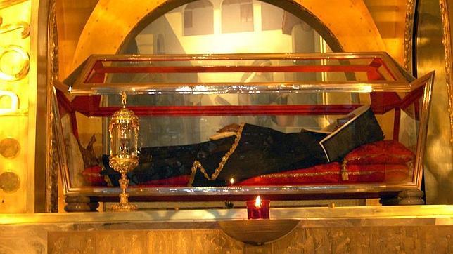 Santa Rita, en la basílica dedicada a ella junto al convento de las agustinas de Cascia