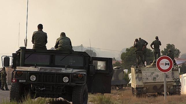 Militares cerca del monte Chaambi, al oeste de Túnez, convertido en guarida de terroristas