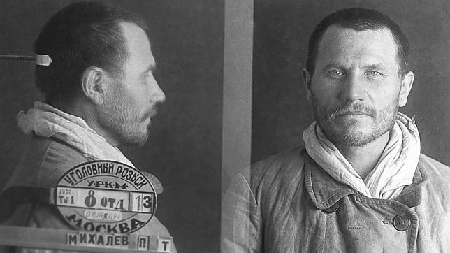 Ficha policial del monje Pavel Mikhalev, arrestado en agosto de 1938 por «contrarrevolucionario»