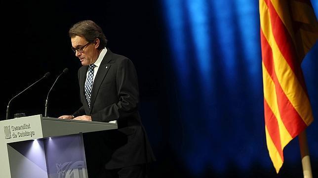 El presidente de la Generalitat, Artur Mas, en el Auditorio Fórum de Barcelona