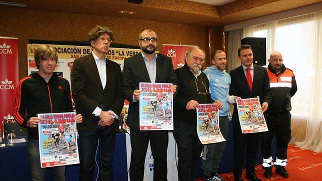 Julio Rey, con los responsables de la carrera y el concejal Alfonso Martín