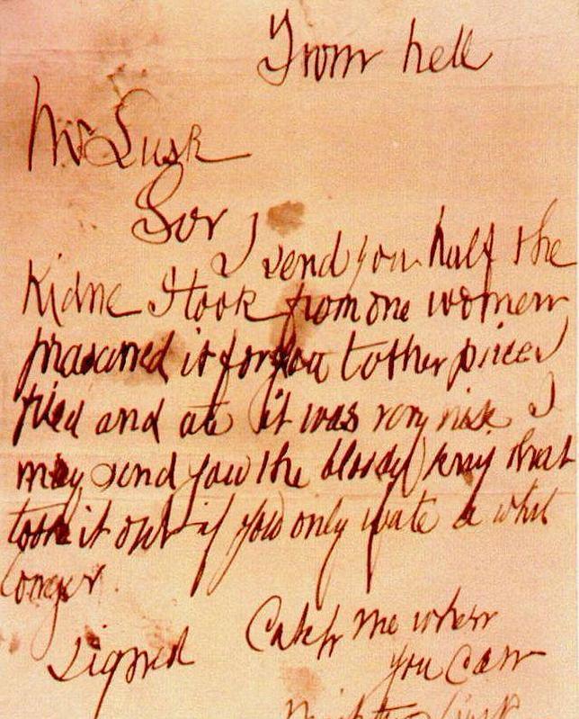La carta, en una fotografía de archivo