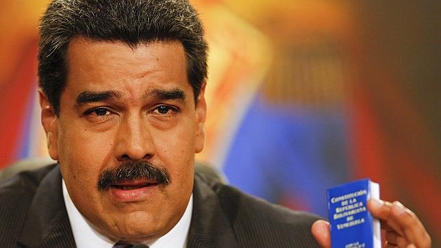 Maduro durante su conferencia en Caracas