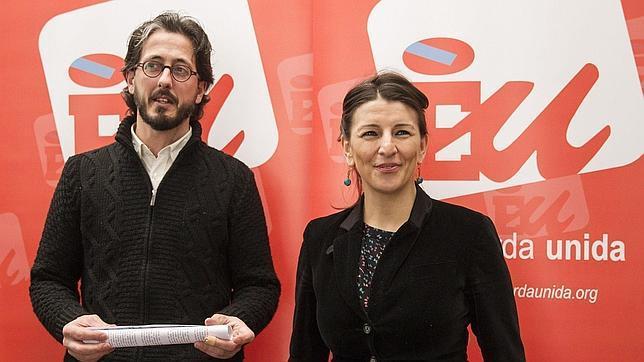 La coportavoz de AGE y coordinadora de EU, Yolanda Díaz
