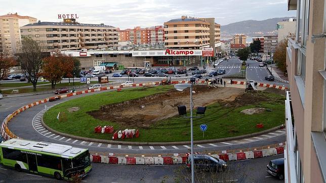 Rotonda de la Avenida Castelao de Coia