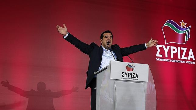Alexis Tsipras, líder de Syriza, en uno de los últimos actos de campaña.