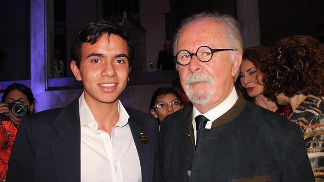 Juan de Castilla y Fernando Botero, en la inauguración de la muestra en Medellín