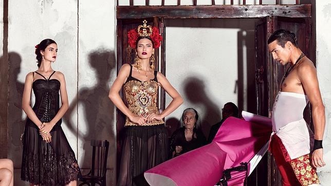 José María Manzanares, durante la sesión de la campaña de Dolce & Gabbana