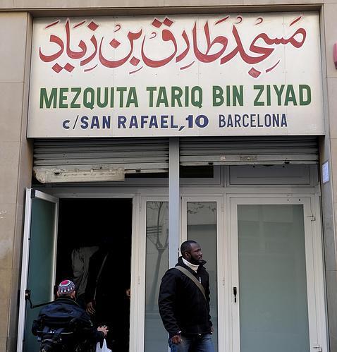 Mezquita de la calle San Rafael, en el Raval de Barcelona