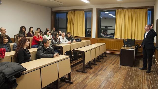 Alumnos de una de las sesiones de este programa