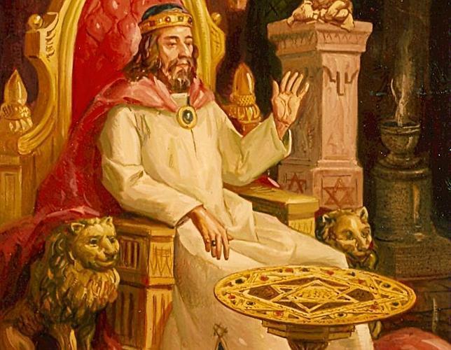 «El rey Salomón y su mesa», óleo de Cerezo Moreno