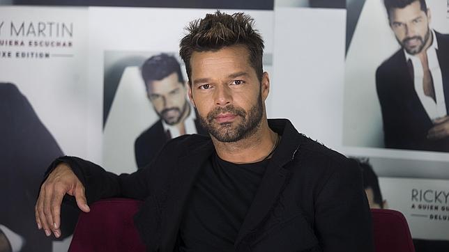 Ricky Martin durante la presentación de su último disco «A quien quiera escuchar»
