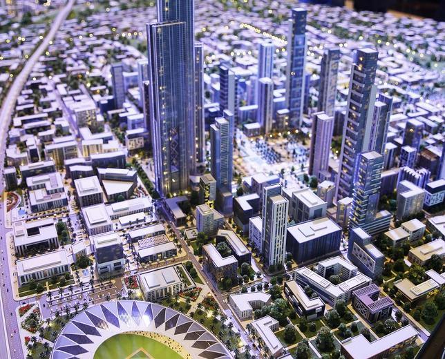 Maqueta de la ciudad «futurist»