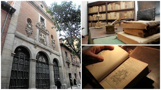 La iglesia de las Trinitarias, la casa de Lope de Vega y un ejemplar del Quijote