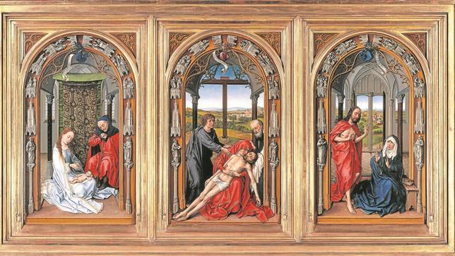 «Tríptico de Miraflores», de Rogier van der Weyden (antes de 1445). Gemäldegalerie de Berlín