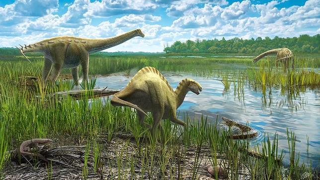 Reconstrucción del hábitat, fauna y flora de Lo Hueco durante el Cretácico Superior