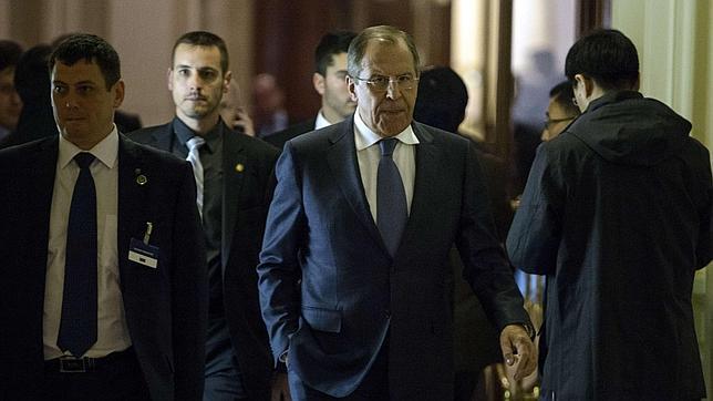 Sergei Lavrov, ministro de Exteriores de Rusia, en las reuniones con Irán en Lausana