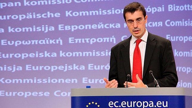 Amadeu Altafaj, durante una de sus ruedas de prensa como portavoz económico de la CE