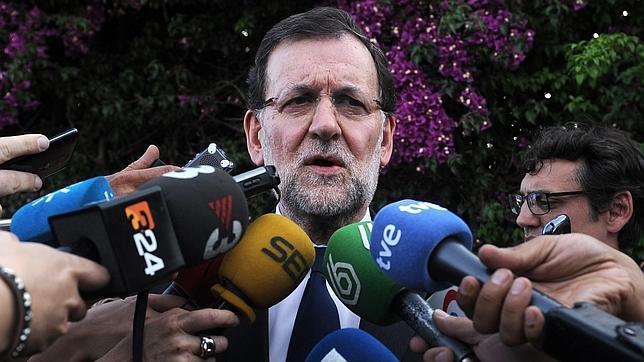 Rajoy en Sevilla, antes de reunirse con los familiares de las víctimas