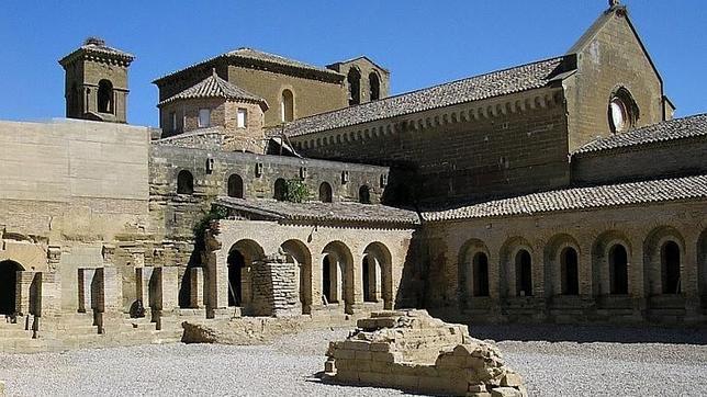 Vista parcial del histórico Monasterio de Sijena (Huesca)