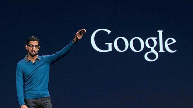 Sundar Pichai, vicepresidente senior de Google, habla sobre Android Wear durante la keynote de la I/O 2015